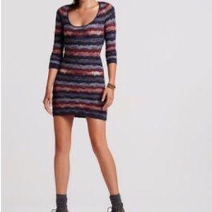 Guess Dresses - Guess Nola 3/4 Sleeve Crochet Knit Dress